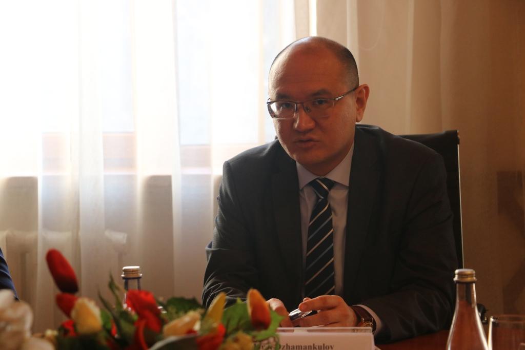 Встреча министра юстиции М. Джаманкулова с представителями Международной тюремной реформы в Центральной Азии